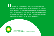 Aussage zur persönlichen Zusammenarbeit von Peter Kretzschmar, Senior Advisor Internal Communications