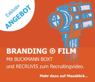 Hinweis auf das Exklusivangebot BUCKMANN BOXT mit Recruitingvideo von Recruvis