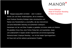 Bild mit Aussage zur persönlichen Zusammenarbeit von Yvonne Böttinger, Head of Employer Branding and Talent Acquisition